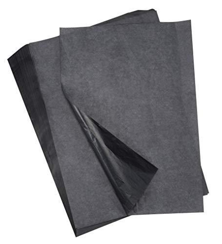 Transferpapier - 200 Blatt Graphit Transferpapier, gewachstes Carbon Kopierpapier, schwarzes Transparentpapier, für Holz, Papier, Leinwand, Stoff, DIY Craft Art, 22,9 x 33 cm -