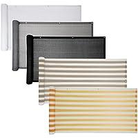 Balkon Sichtschutz verschiedene Modelle / Balkonbespannung Balkonsichtschutz Balkonverkleidung 6 Meter (0,75 x 6,0 Meter, Grau)