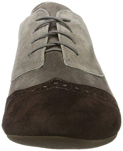 Think Guad, Zapatos Con Cordones Para Mujer Multicolores (espresso / Kombi 42)