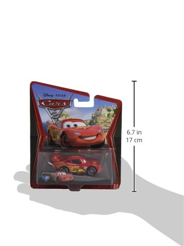 Image of Disney Cars 2, Lightning McQueen with Racing Wheels Die Cast Vehicles, No 3, V2797