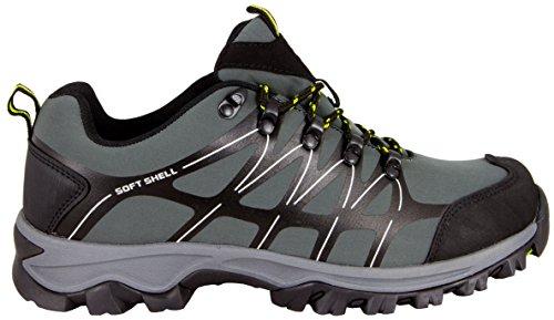 GUGGEN MOUNTAIN Herren Trekkingschuhe Wanderschuhe Wanderhalbschuhe wasserdicht Outdoor-Schuhe Walkingschuhe T003 Grau