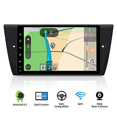 YUNTX Autoradio für BMW E90/ E91/E92/E93 (2005-2012) Navigation Can-Bus integr. | 9 Zoll | LCD Touchscreen | 2GB /32GB | DAB+ Unterstützung | USB | Octa-Core | WLAN | Bluetooth | MirrorLink | RDS