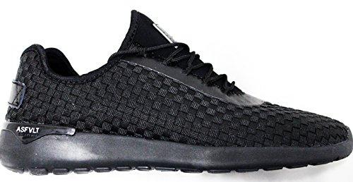 Sneakers Asfvlt uomo area ss020 speed socks deep black woven fw 40 40 40