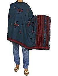 Accessoire de laine brodé Châle Wrap main des femmes indiennes