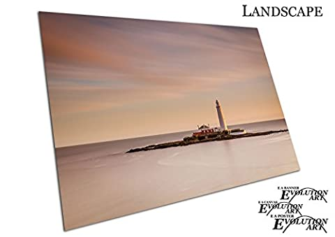 Küche & Badezimmer Banner-ST MARY Leuchtturm in North East England - A2 Print Only