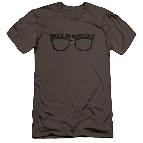 (Major League - - Wild Thing Premium Slim Fit T-Shirt für Männer, Large, Charcoal)