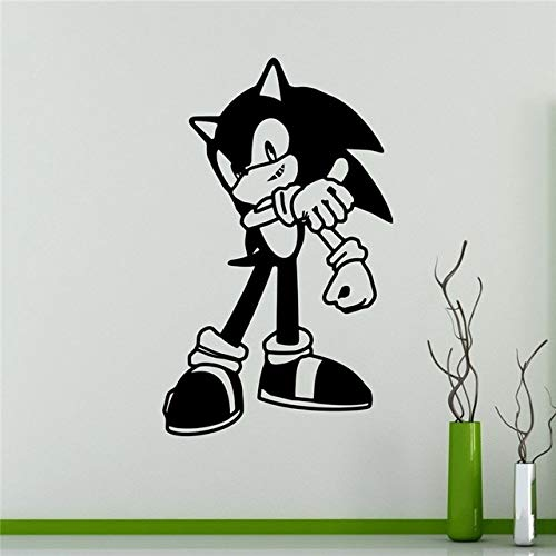 Wandaufkleber, Verkauf Neue Sonic Vinyl Aufkleber Igel Wandaufkleber Videospiel Cartoons Home Interior Kinder Kinderzimmer Dekor 58X96 Cm