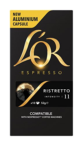 L'OR Espresso Ristretto 10 Aluminium Coffee Capsules Intensity 11 (Pack of 10, 100 capsules in total) 41DfqKxSWKL