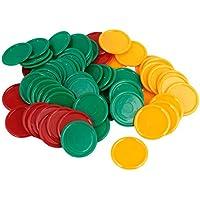 68 piezas verde amarillo rojo plástico forma redonda Pocker fichas