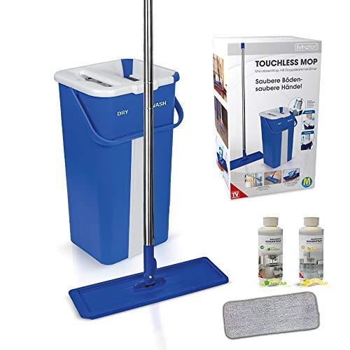 Mediashop Livington Touchless Mop Selbstreinigungssystem Mopp  inkl. Eimer 2,7 Liter  Reinigung für alle Arten von Böden  Fliesen  Parkett  Linoleum  Laminat | Das Original aus dem TV