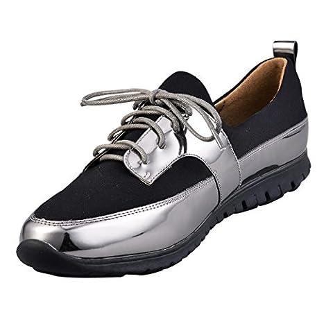 Hengfeng Lacet Coloré Chaussures (40 EU, Gris)