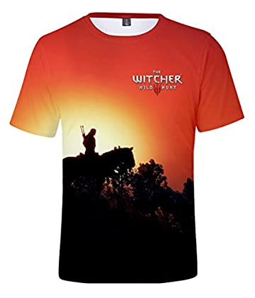 ZIGJOY Witcher Gaming Casual 3D Impreso Músculo...