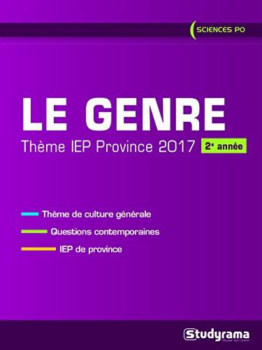 Theme IEP province (2ème année) : Le genre par Christian Bardot