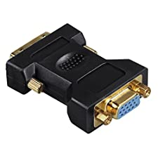 Hama VGA-DVI-Adapter, DVI-Stecker - VGA-Kupplung, vergoldet, geschirmt