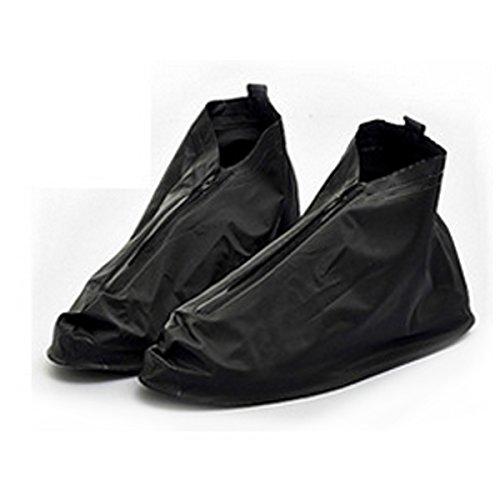 1paire de haute qualité imperméable Housse imperméable pour chaussures Flattie Pédale antidérapante Sur-chaussures pour Homme et Femme, Homme, noir