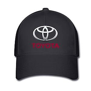 Huseki Unisex Toyota Logo Baseball Caps Hat One Size Black