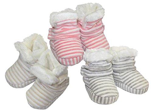 Baby Home Bootsinnen mit weichem Teddyfutterund mit Antislip-Sohle in Grau-86/92