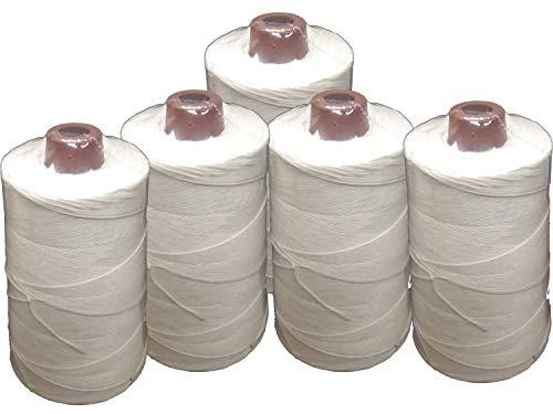 Hilo de poliéster multiusos BLANCO (200 gr) Pack 5 bobinas