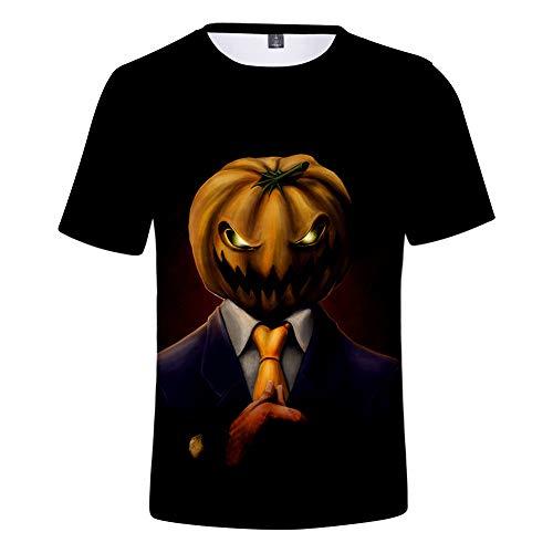 3D T-Shirt Unisex HD Gedrucktes Rundhalsausschnitt Lässig Mit Print Kurzarm Top Halloween L