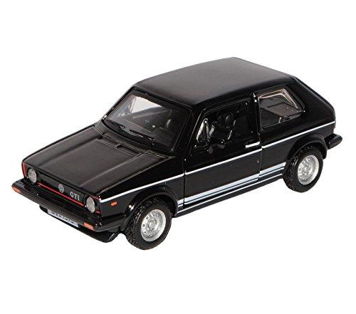 VW Volkswagen Golf 1 GTI Schwarz 3 Türer 1974-1983 1/32 Bburago Modell Auto mit individiuellem Wunschkennzeichen - 3