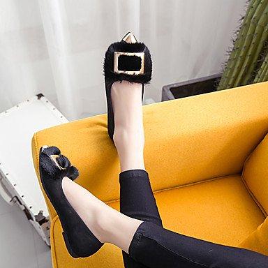 Confortevole ed elegante piatto scarpe donna Appartamenti Inverno altri mocassino Comfort PU Fur Casual tacco piatto altri Nero Grigio Scuro Borgogna Altri Burgundy