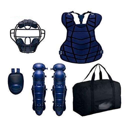HJzmh Hard Baseball Cattering Schutzausrüstung 5 Stück Set (Farbe : A)