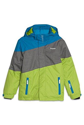 kijacke mit Reflektoren - Jungen Ski-Jacke Snowboard Kinder Funktion Outdoor Winter hellgrün,110 (Ski-jacken Jungen)