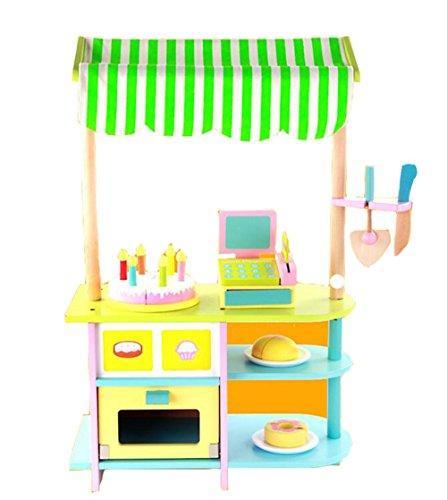 HJXJXJX Wooden Role Play vorgeben Herd Kinder-Küche Set Spielzeug für Kinder (Essen Restaurant Vorgeben)
