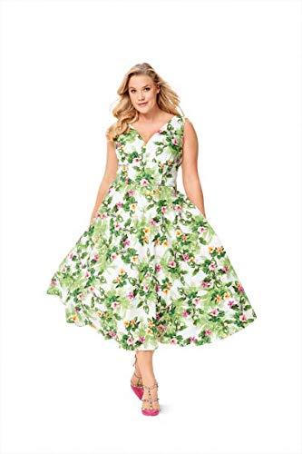 new style 2906b 7655c Burda, cartamodello per abito con gonna a campana, taglia 20 – 30, 6549