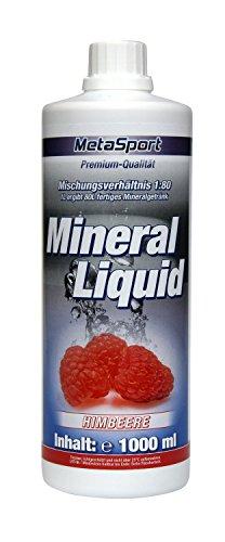 MetaSport Mineral Liquid + L-Carnitin + Magnesium, 1:80, 1000 ml Flasche Geschmacksrichtung Himbeere