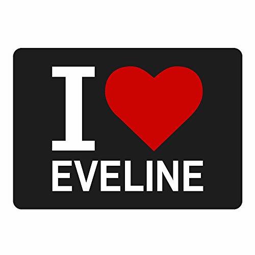 Tappetino per mouse Classic I Love Eveline Nero