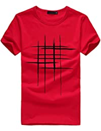 Homebaby® Camicia Uomo Elegante Maglietta Manica Corta Casual Stampa - T-Shirt Uomo Sportivi Vintage Cotone Stretch Maglione Uomo Tumblr Estiva Particolari Magliette Corte
