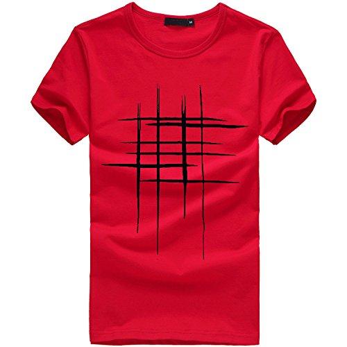 FRAUIT Herren Drucken Tees Shirt Kurzarm T-Hemd 100% Baumwolle Sport Freizeit Reisen Festival Party Tops Kleidung Bluse Mehrere Farben M-3XL - Reise-jeans Herren