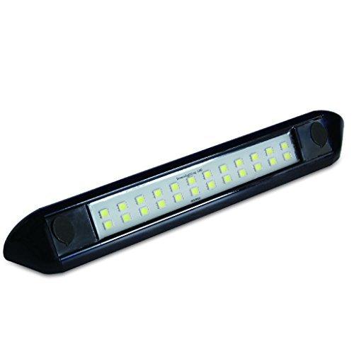 Preisvergleich Produktbild Dream Lighting Wasserdicht Caravan Markise Leuchten für Wohnmobile/Anhänger, 12V 250mm schwarz Muschel LED Vorzeltleuchte Lichtleiste