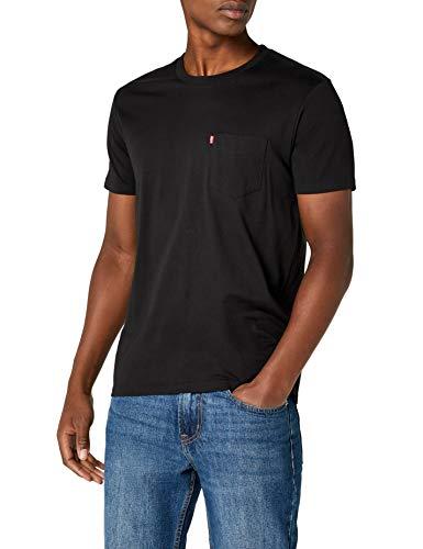 Levi's ss set-in sunset pocket, t-shirt uomo, nero (black 0011). x-large