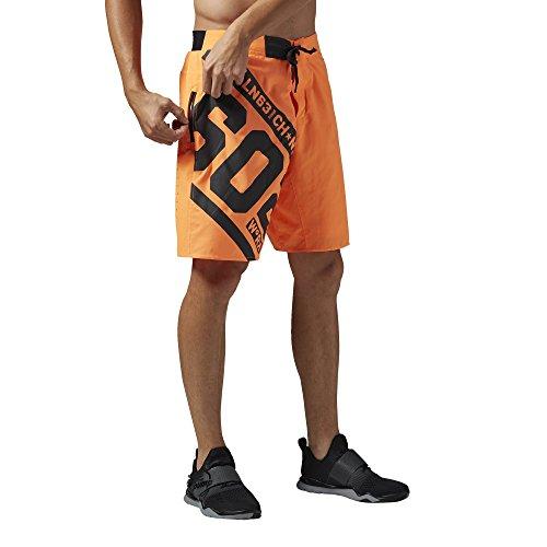 Reebok uomo One Series cattiva alimentazione 2-in-1 pantaloncini da, Electric Peach Arancione - Electric Peach