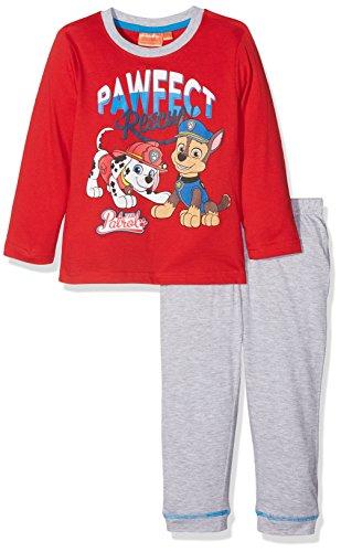 Nickelodeon Jungen Paw Patrol Pawfect Zweiteiliger Schlafanzug, Rot (Red 19-1763TC), 3-4 Jahre