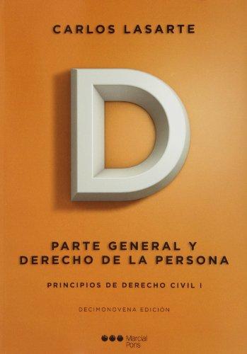 Principios de derecho civil I (19ª ed.) (Manuales universitarios)