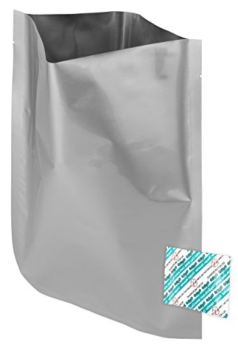 "Oxy-Sorb 60 - 1 Gallon Mylar Bags & 60 - 300cc Oxygen Absorbers For Dried Dehydrated and Long Term Food Storage -(10""x14"")"