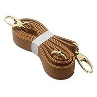 Tookie Shoulder Bag Straps, Adjustable Single Shoulder Strap Imitation Leather Litchi Pattern Handbag Handle Crossbody Bag Replacement Strap(yellowish,Brown)
