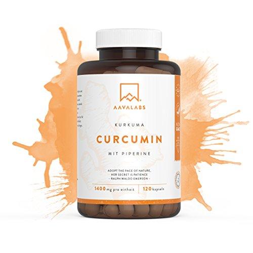 Kurkuma Kapseln [ 4200 mg ] von Aava Labs - 95% Curcumin Extrakt - Mit patentiertem BioPerine - 100% Vegan und ohne Gentechnik - Hergestellt in der EU - 120 rein pflanzliche Kapseln.