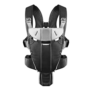 BABYBJÖRN Baby Carrier Miracle (Black/Silver, Cotton Mix)   8