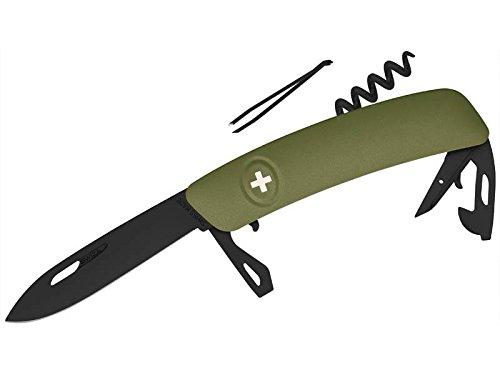 SWIZA Unisex- Erwachsene Schweizer Messer D03 AB Olive, Schwarz, 17cm