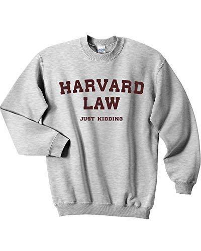 Mars NY Harvard Law Just Kidding Damen Sweatshirt mit Rundhalsausschnitt - grau - Mittel