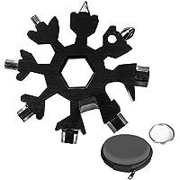 Aitsite Schneeflocke Multi-Tool 18-in-1 Tragbares Edelstahl-Multifunktionswerkzeug für Outdoor-Abent