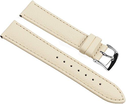 Eulit Fancy Classic Ersatzband Uhrenarmband Rindsleder Band Beige 25458S, Stegbreite:22mm