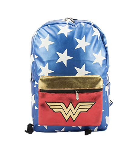 Ddong Unisex Mochilas Escolares Moda Impreso Mochila de Estudiante Backpacks Wonder Woman Daypack para Niño y Niña Bolsas de Viaje