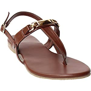 Brown Sandals |Women Slippers | Girls Sandals | Flats | Slippers |Sandal | Gold | Brown | Dark Brown | flats | slipper for women