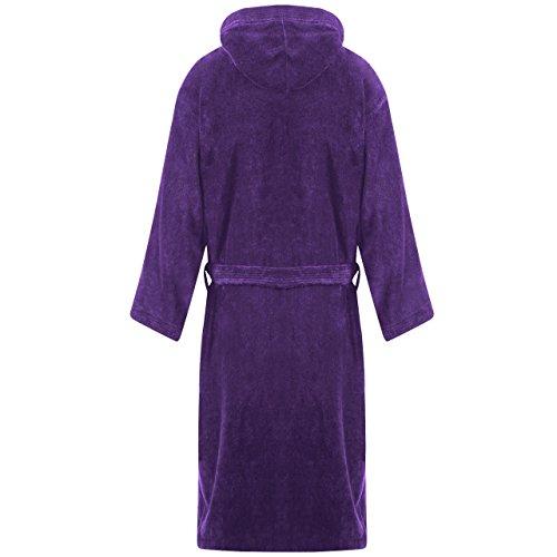 MYSHOESTORE - Peignoir - Uni - Manches Longues - Femme Multicolore bigarré Small Purple / Hooded