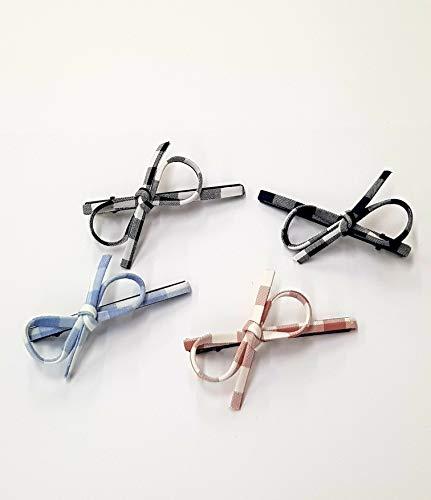 takestop Set aus 2 Stück Eisen, Schleife, Federn mit Nadeln aus Eisen, Haarnadeln, Zubehör für Mädchen, Farbe zufällig -